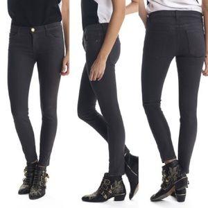 CURRENT/ELLIOTT The Stiletto Jeans Coated Licorice